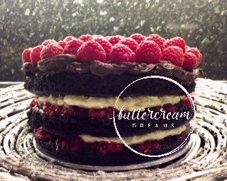 Vegan Chocolate & Raspberry Birthday Celebration cake