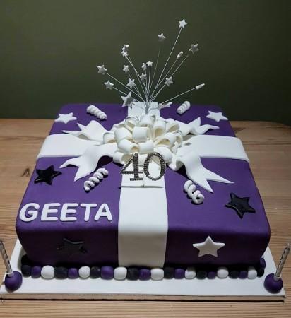 Celebration explosion cake