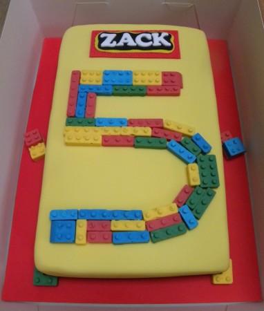 Large Lego party cake