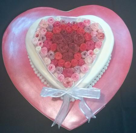 Heart & Roses cake