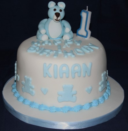 Teddy Bear Christening Cake