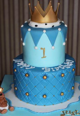 2 tier 1st Birthday Cake