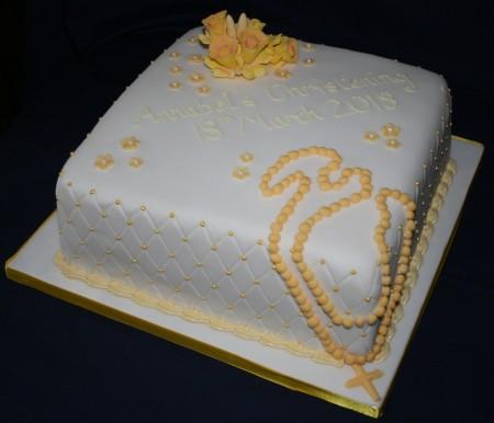 Rosary Christening Cake