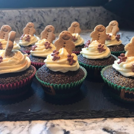 Christmas Gingerbread Cupcakes