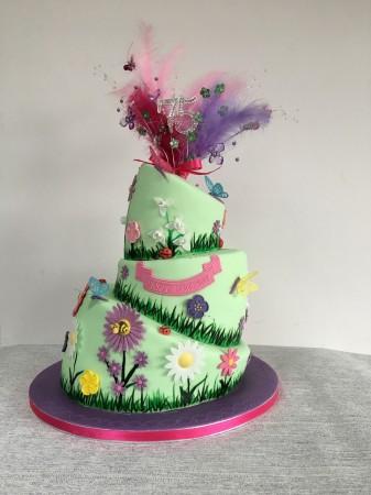 Topsy Turvy Garden Cake