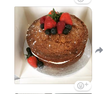 Simple sponge cake with fresh fruit decoration