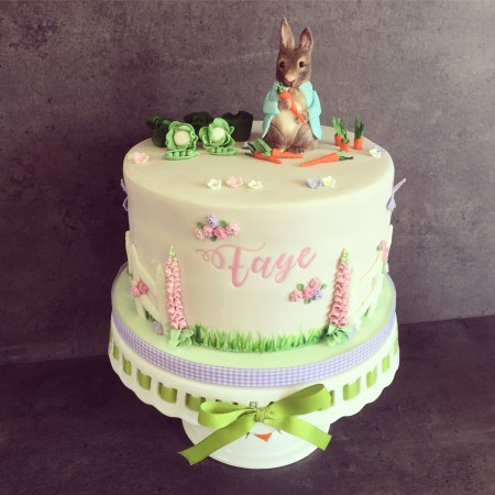 Peter Rabbit inspired cake