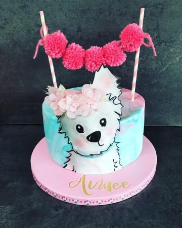 Pom Pom puppy cake