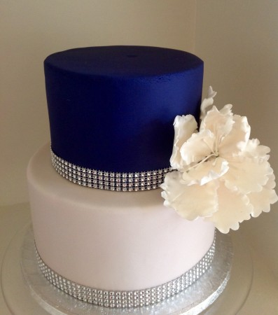Diamante wedding or party cake