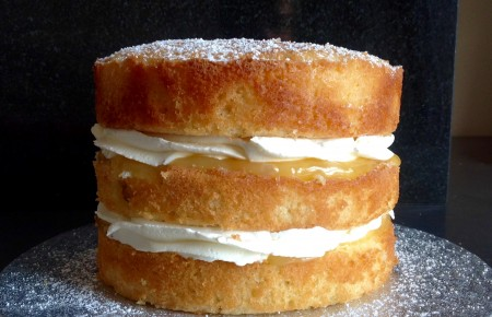 Lemon & elderflower sponge
