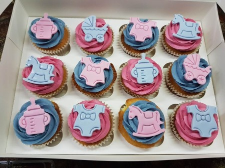 Baby Shower Cupcakes Pink Blue Dreamcakes