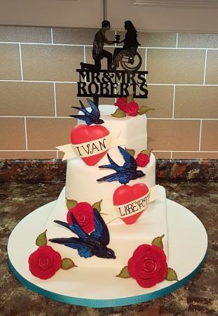 3 Tier Coeliac Wedding Cake