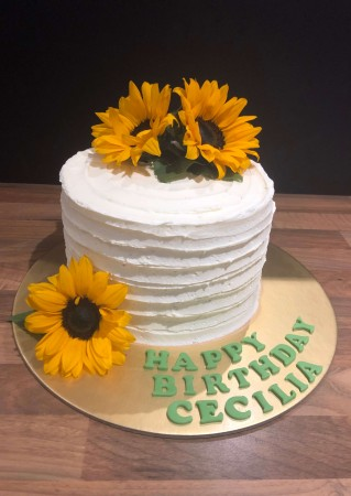 Cakes - Fresh Flower Buttercream Cake