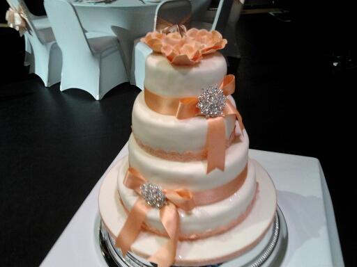 Four Tier  Sponge Wedding Cake