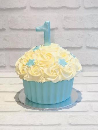 Wondrous Giant Cupcake Birthday Cake Baker Street Cupcakes Funny Birthday Cards Online Alyptdamsfinfo