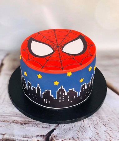 Swell Themed Spiderman Birthday Cake Baker Street Cupcakes Funny Birthday Cards Online Alyptdamsfinfo