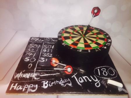 Dart Board Cake