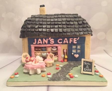 Vintage cafe cake