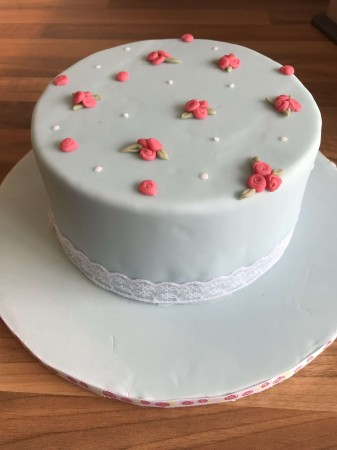 Rose Patterned Cake