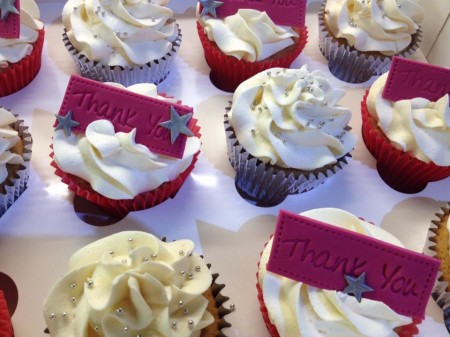 Message Cupcakes with Handmade Toppers