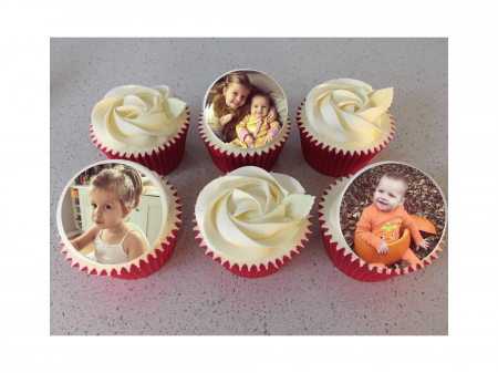 Mother's Day Box of Personalised 3 Photo Cupcakes