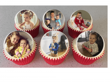 Mother's Day Box of Personalised 6 Photo Cupcakes