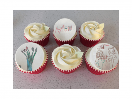 Mother's Day Box of Personalised 3 Picture Cupcakes