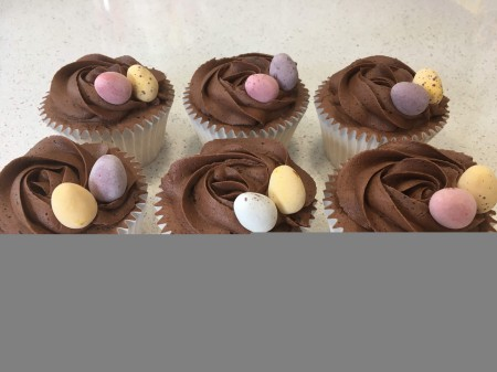 Easter Chocolate Egg Cupcakes