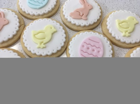 Easter Decorated Handmade Vanilla Biscuits