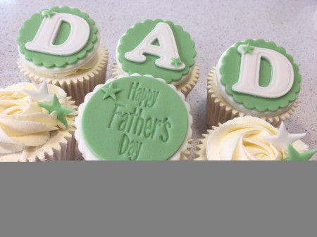 Father's Day DAD Cupcakes