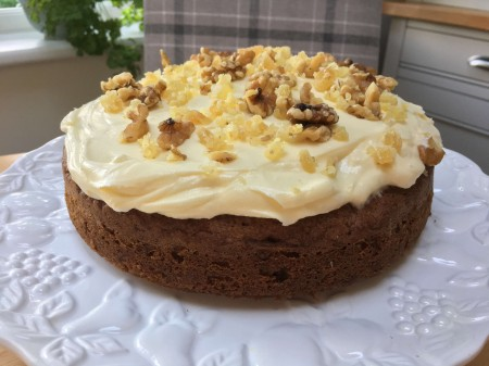 Carrot & Ginger Cake with Walnuts
