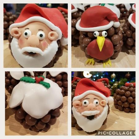 Maltesers Christmas Pudding/ Father Xmas/ Robin