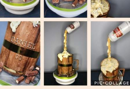 Anti Gravity Beer Pouring cake