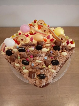 Chocolate and Vanilla loaded cake