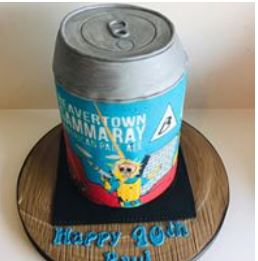 Beer can designed cake