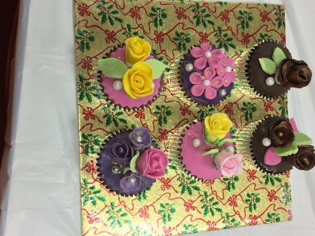 Floral cupcakes- beautifully created by hand