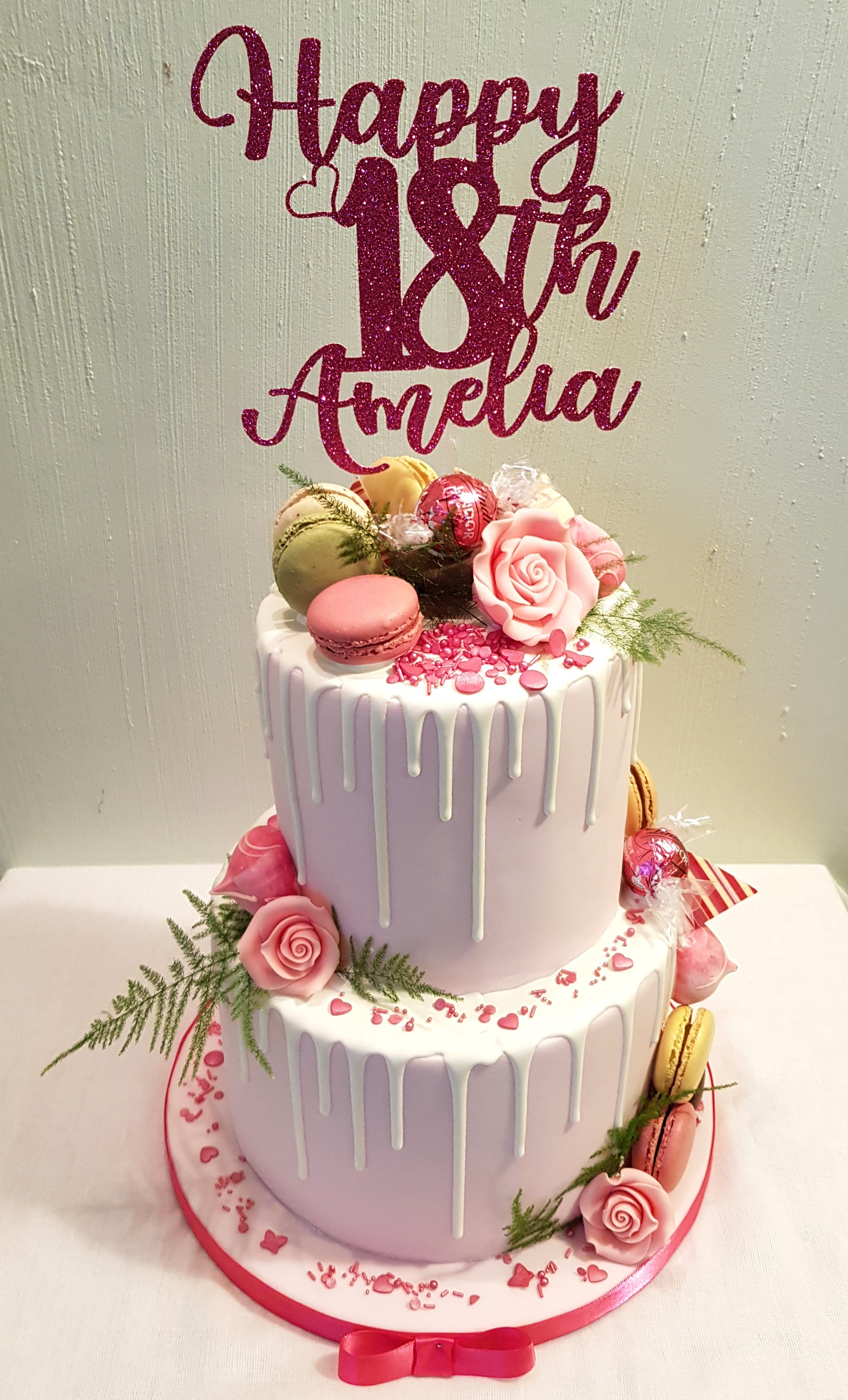 2 Tier Drip Celebration Cake