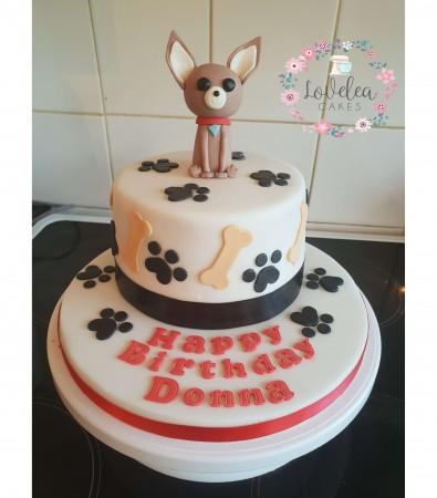Chihuahua Birthday cake
