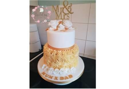 2 tier 50th Wedding Anniversary cake