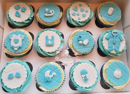 Baby Shower cupcakes- different colours