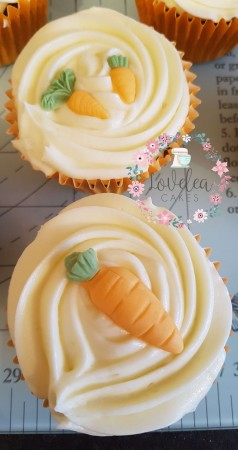 40 Carrot Cake Cupcake to go with main order