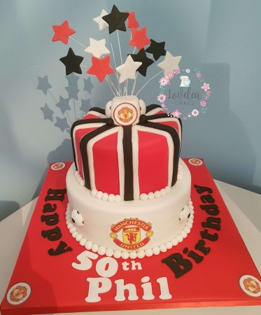 2 tier Manchester United cake, other teams available