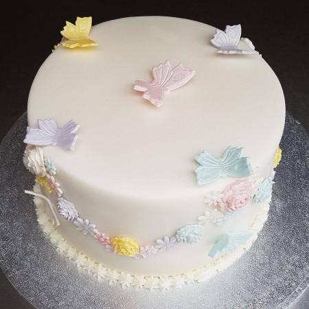 Vanilla Butterfly Cake