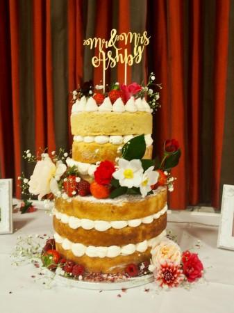 Two Tiered Vegan Wedding Cake