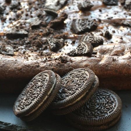 Oreo chocolate brownies