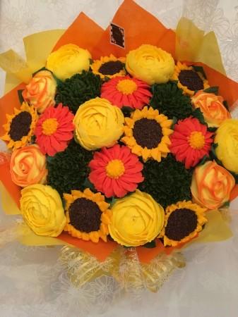 Summer Cupcake bouquet