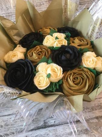 Celebratory Golden Cupcake bouquet