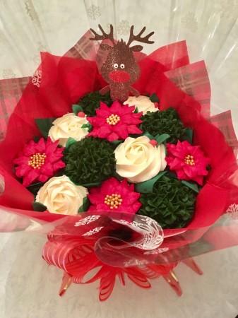 Xmas Cupcake Bouquet