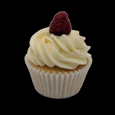 Raspberry and White Chocolate Cupcake