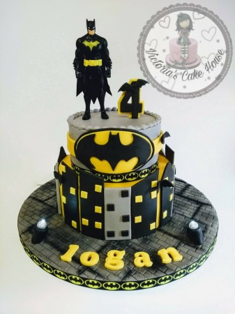 Batman Themed Cake with lights.
